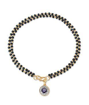 18Kt Gold Stylish Diamond Evil Eye Mangalsutra Bracelet by Satyug Diamond Jewellery: Buy 18Kt Gold Stylish Diamond Evil Eye Mangalsutra Bracelet by Satyug Diamond Jewellery Online in India on Snapdeal
