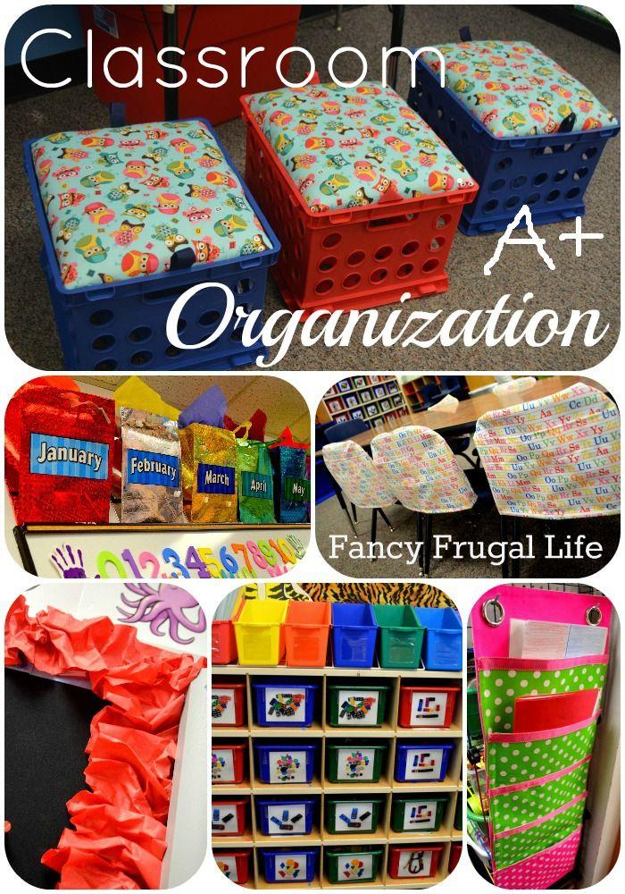Classroom Organization Ideas, chair covers, toy bins, crate stools @Kaitlyn Mattson Mattson Mattson Mattson Mattson Mattson Mattson Mattson Adamson
