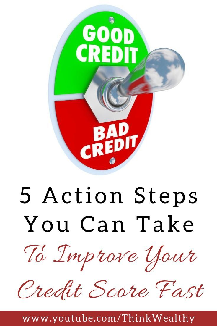 Think Wealthy Improve Your Credit Score Credit Score Improve Credit Score