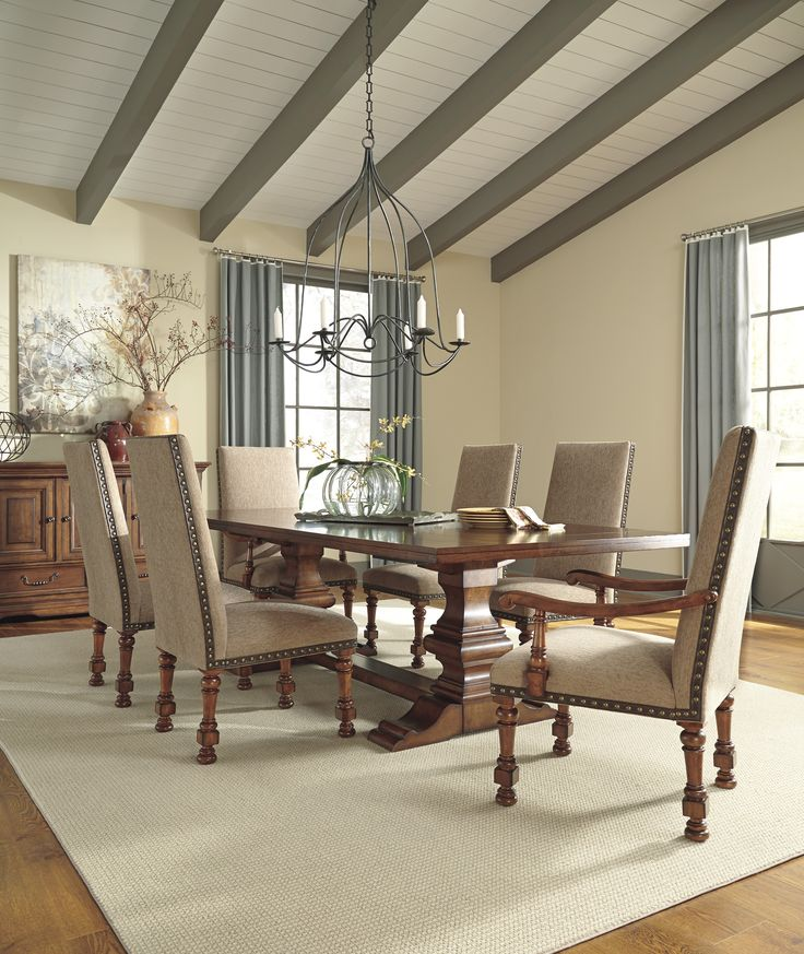 The Rustic Beauty Of Gaylon Collection Brings Together Rich Finishes And Crafted Details RusticTo CreateDining Room