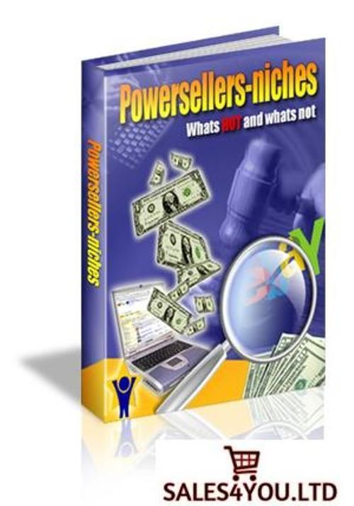 NEW The eBay Power Sellers Niches E-book FREE SHIPPING