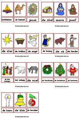 woordkaarten met lidwoord