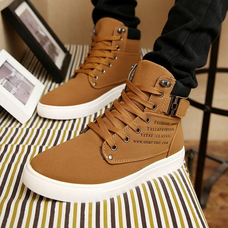 Men Canvas Shoes Top Fashion Lace-up High Style Solid Colors Flat With Youth Oxford Casual Shoes #Fashion shoes