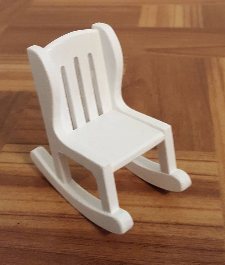 Handmade 1:12 scale rocking chair/ dollhouse rocking chair/ miniature rocking chair/ wooden doll furniture/ white rocking chair/ doll chair by DollsDelight on Etsy https://www.etsy.com/listing/552363303/handmade-112-scale-rocking-chair
