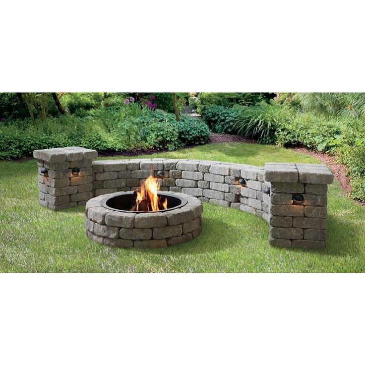 Fire Pit Bricks Lowes Part - 28: Shop Allen + Roth Allegheny Flagstone Fire Pit Patio Block Project Kit At  Lowes.com