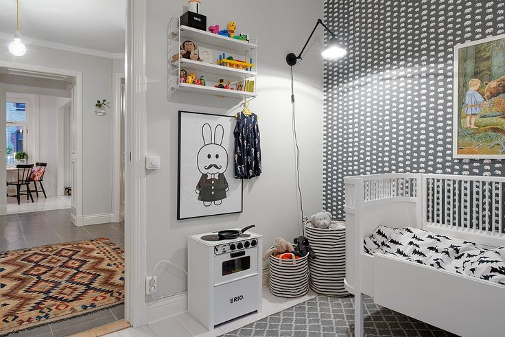 Ideal children's rooms   black and white