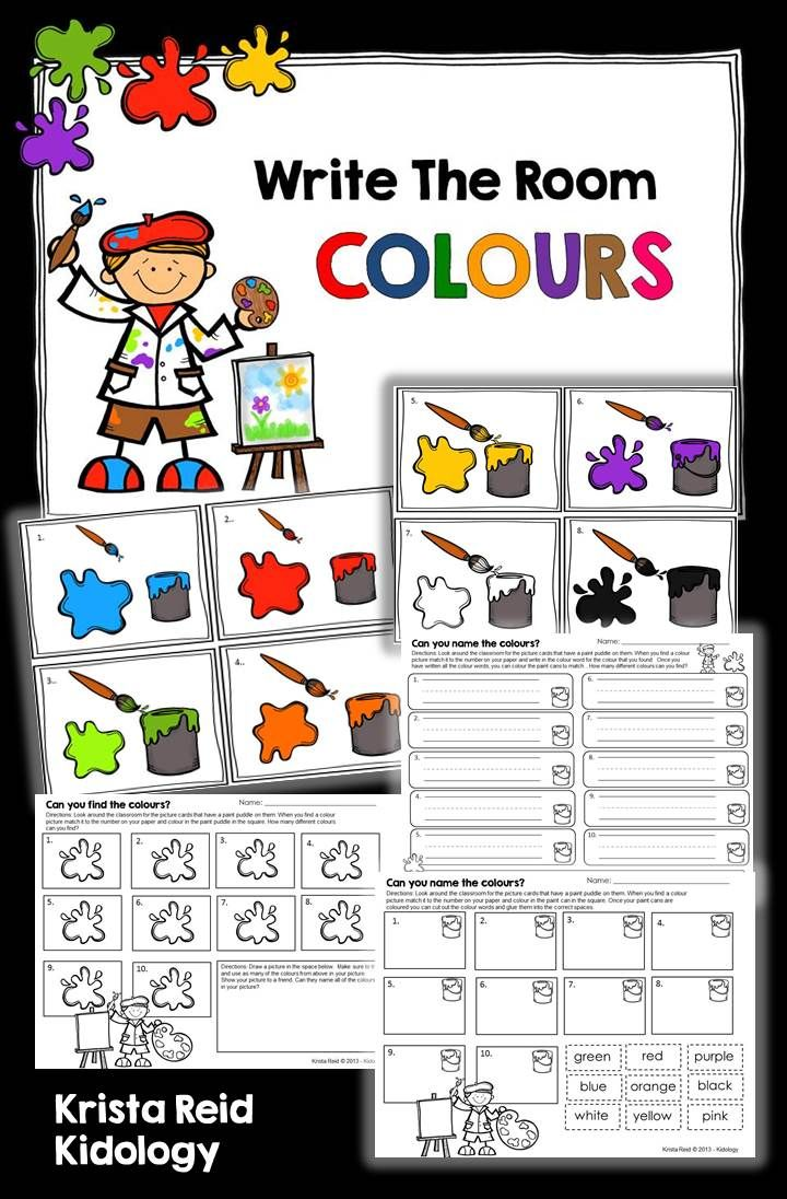 Write the Room - Colours and Colour Words!