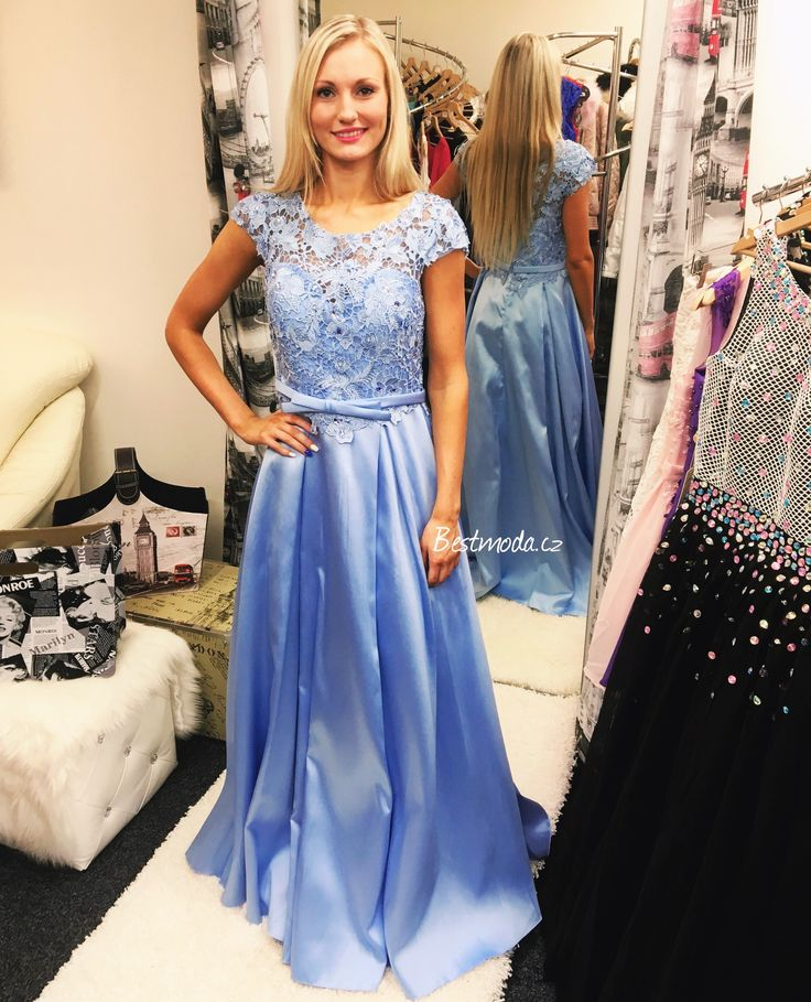Evening dress Christine in icy blue