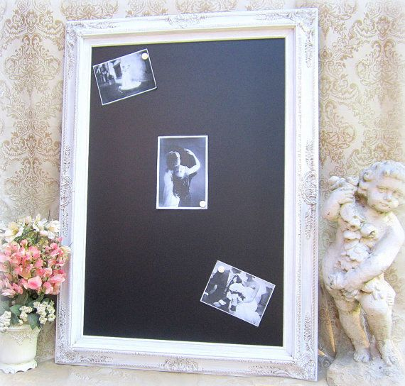 WEDDING CHALKBOARD For Sale Magnetic Chalkboards Shabby Chic Wedding Attached Stand -Restaurant Reception Sign Large White Framed Chalkboard on Etsy, $249.00