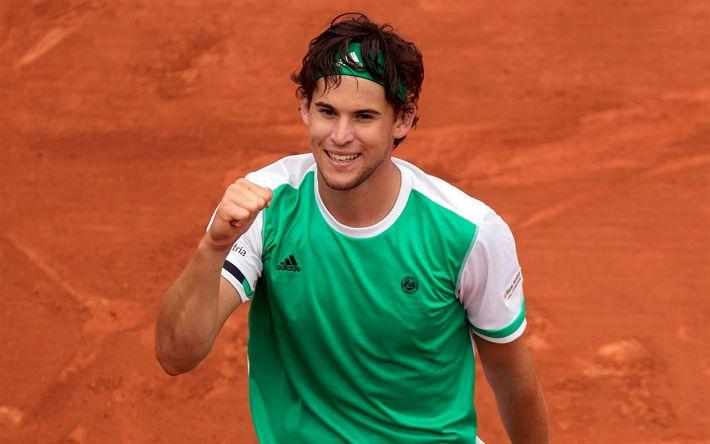 Télécharger fonds d'écran Dominic Thiem, Tennis, ATP, le portrait, le joueur de tennis Autrichien