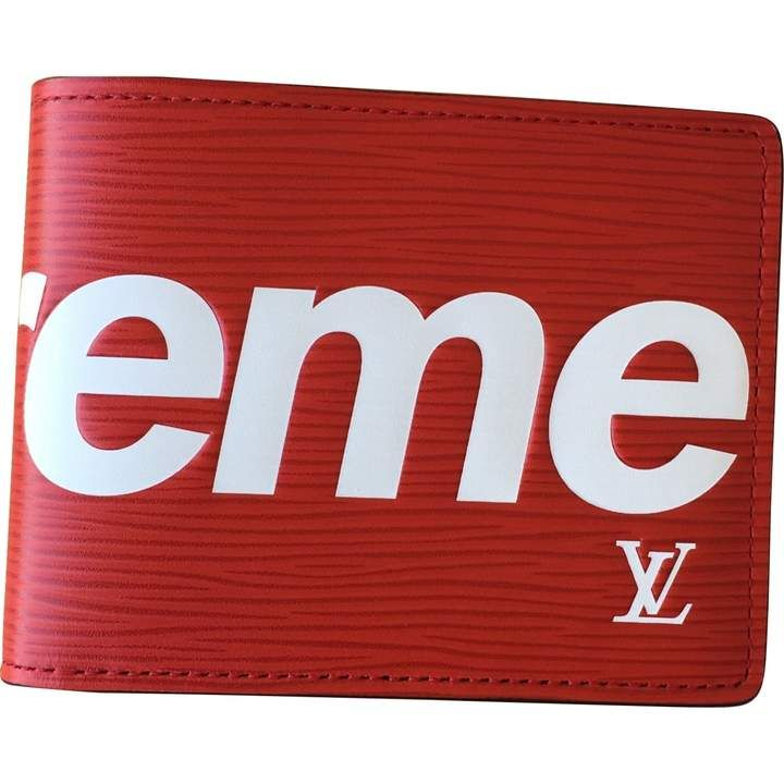 Louis Vuitton X Supreme Red Leather Small Bag Wallets Cases Small Bag Wallet Case Mens Fashion Week