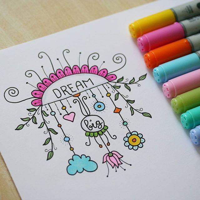 #drawing #doodle #doodling #liner #markers #copic #instaart #art #inspiration #dreambig #bright #рисунок #дудл #мечтай #маркеры #творчество #вдохновение #joonistus