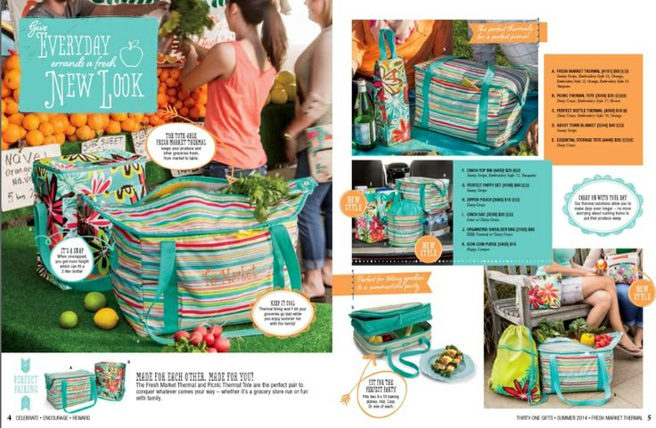 Summer 2014 - Thirty One Gifts www.mythirtyone.com/490346/      New Patterns!!!   Perfect for summer  :)