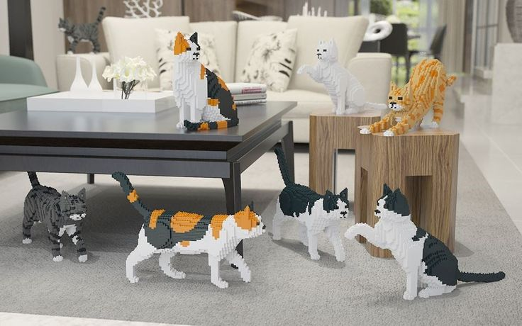 """Cat """"#Legos"""" Are The Cool New Toy For Cat Lovers http://ibeebz.com"""