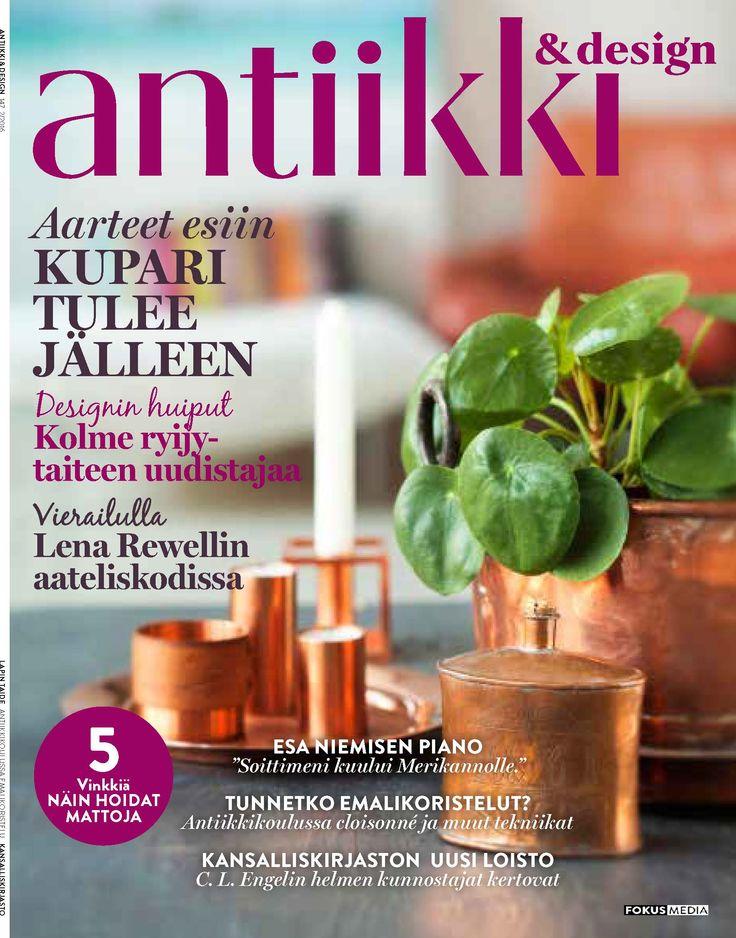 Antiikki & Design 2/2016 kansi. Photo Pia Inberg. Style Irene Wichmann.