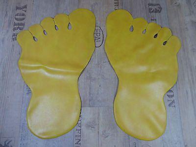 große gelbe Füße Badezimmer Vorleger DDR  50er 60er Retro