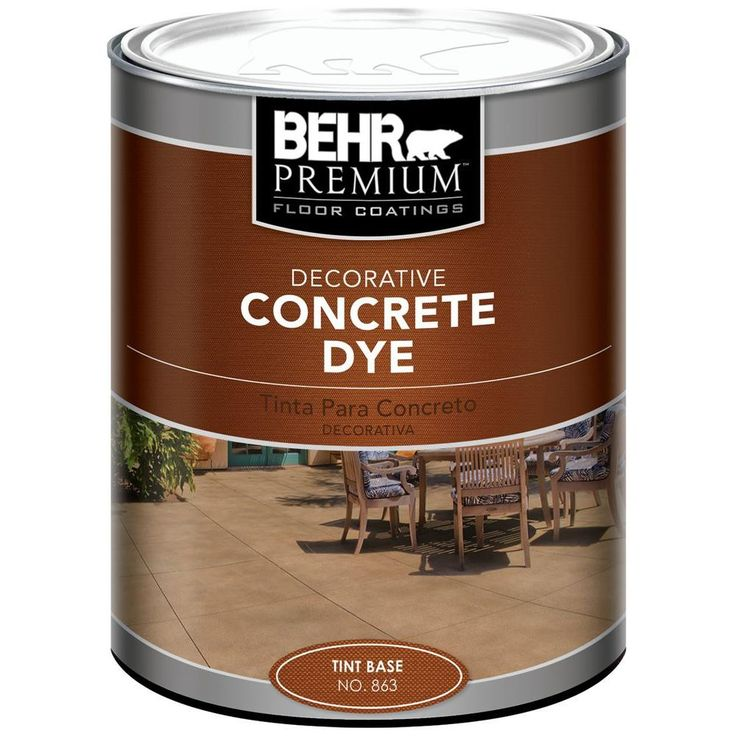 Behr 1qt tint base concrete dye concrete garage floor