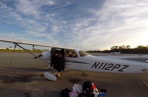 Flying from Florida to California, Cessna 172
