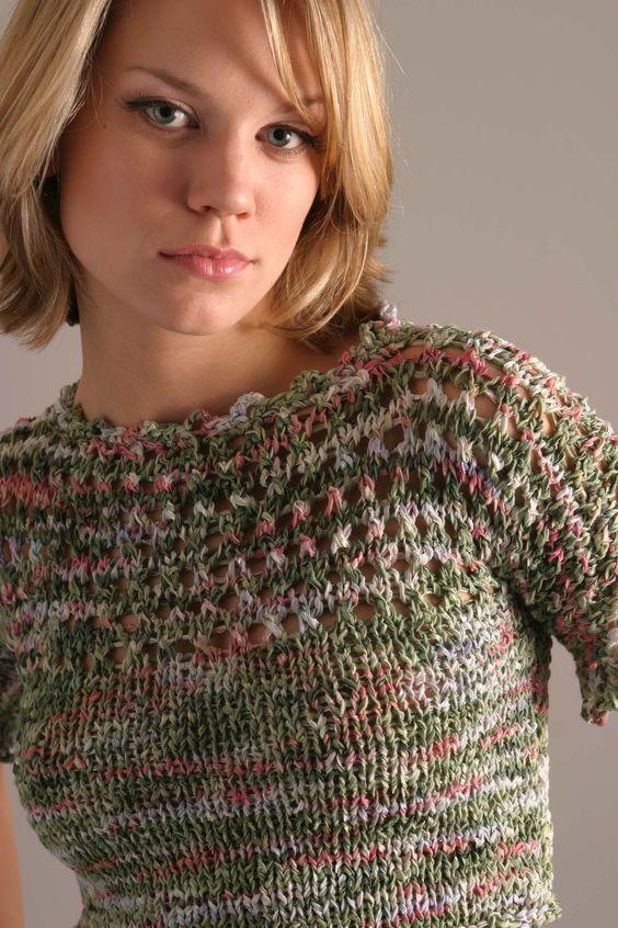 Carasan Designs summer pullover sweater..and matching skirt. (not seen) By Terri of Carasan: