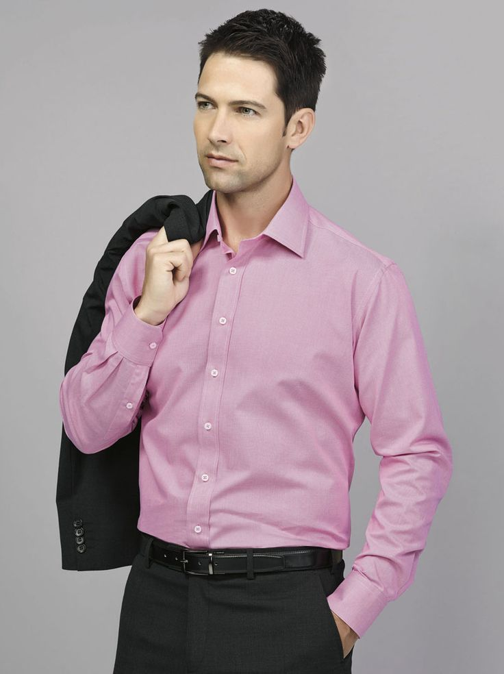 Hudson Long Sleeve Shirt #bizcorporates #boulevard #hudson #yarndyeddobby