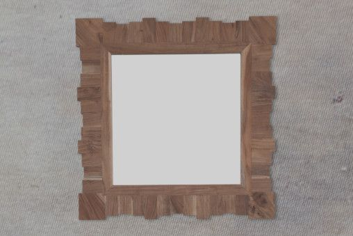 Natural Acacia Segmental Square Mirror