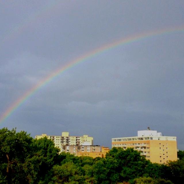 Winnipeg Rainbow. Rainbow outside my window in Winnipeg Canada. - Source: @Bendrix (Upload)