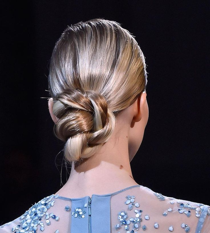 Runway-Inspired Prom Updos for Long Hair - create a rope braid and then twist it up into a bun that will showcase the design.