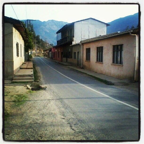 Quebrada Alvarado. Typical sight on the country near the mountains...