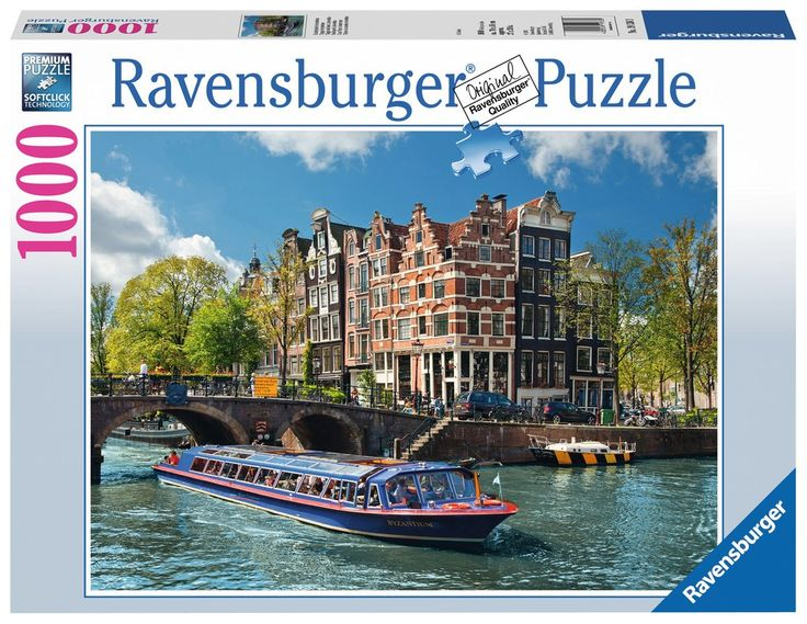 Ravensburger Puzzle 1000pc - Canal Tour In Amsterdam