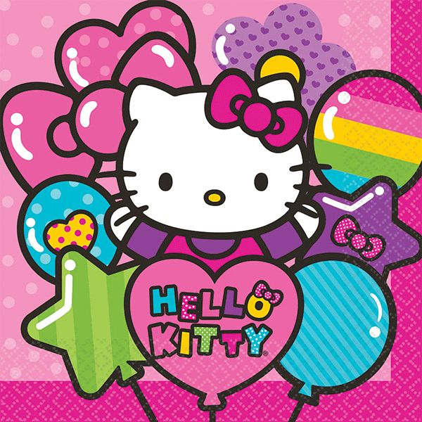 Hello Kitty Rainbow Lunch Napkins 16ct