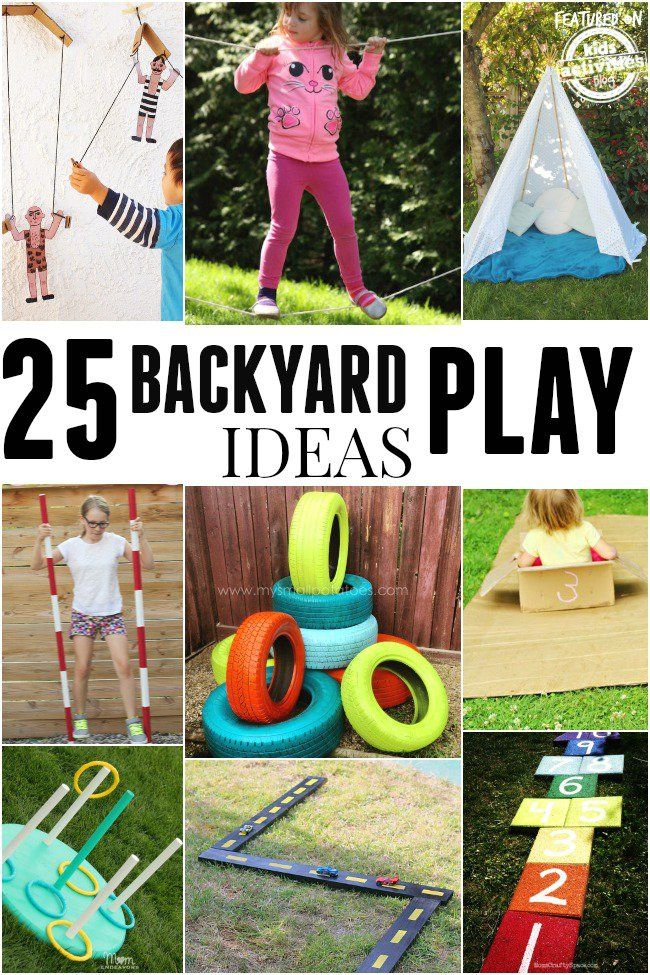 25 Ideas To Make Outdoor Play Fun Backyard Play Kids