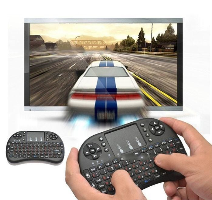 Mini Clavier Sans Fil 2.4 G QWERTY Wireless Keyboard Android TV Box,PS3,Xbo Noir