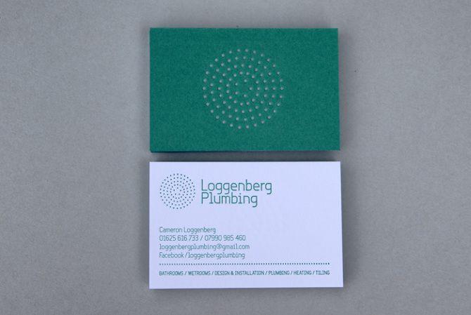 Loggenberg Plumbing logo designed by Concrete #logo #branding #identity #businesscards