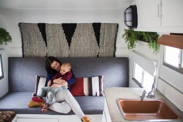 Alyssa and Noah Zemke transform their retro travel trailer into a modern home on wheels.