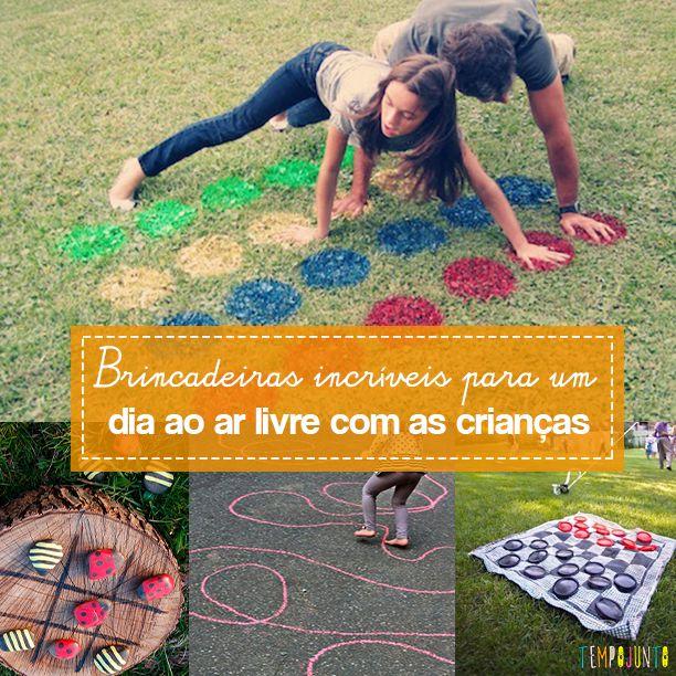 Sugestões criativas de brincadeiras para fazer no quintal com crianças maiores de 5 anos ou mais.