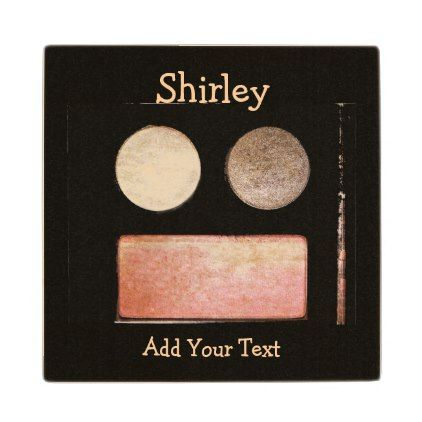 Make-Up Palette-Face by Shirley Taylor Wooden Coaster - makeup artist business customize diy