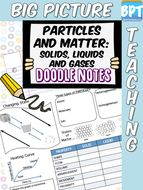 Solids, Liquids and Gases Doodle Notes worksheet