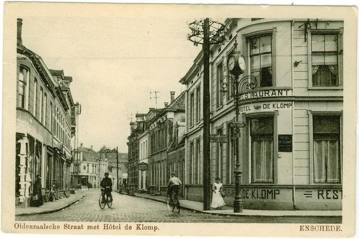 De Heurne - Hotel de Klomp ca. 1910  Oldenzaalsche Straat met Hotel de Klomp. ENSCHEDE.