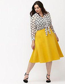 Ponte circle skirt:
