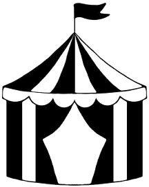Dibujo de carpa de circo.