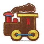 Aufbügler LokomotiveBraun - süße Lokomotive zum Aufbügeln. Verzieren Sie mit diesem Aufbügler gekaufte oder selbst genähte Kleidung und mehr. Oder nutzen Sie ihn als Flicken für ein Loch in der Kleidung.Der Aufbügler ist aus Filz mit gestickten Details.