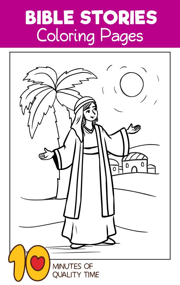 Deborah The Prophetess Coloring Page Bible Coloring