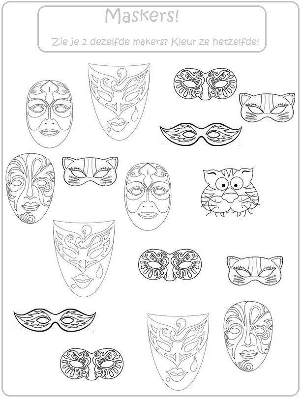 Thema carnaval : kleur dezelfde maskers