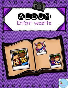 """Cet album d'enfant vedette est une activit parfaite pour permettre  vos lves de s'affirmer et de communiquer! Chaque semaine, un lve est """"l'enfant vedette"""" de la semaine."""