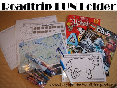 Roadtrip printables...good to use for social studies lessons