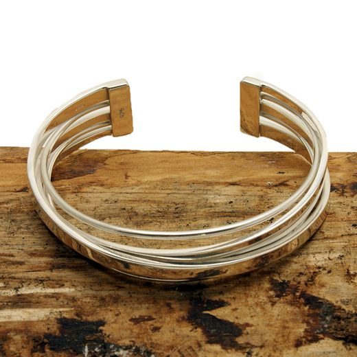 Andea Sterling Silver Five Strand Cuff Bracelet - Add a touch of style and sophistication
