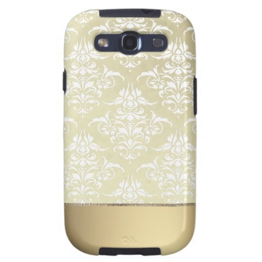 Elegant Light Gold Vintage Damask Pattern Galaxy S3 Case $49.95 #samsung #galaxy #s3 #vintage #damask #pattern