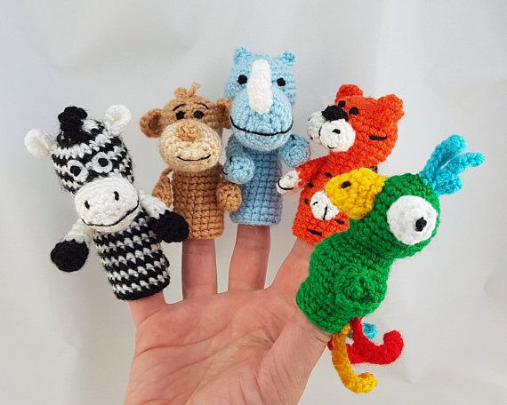 Finger puppets, Africa Animal, Toddler toys, Baby shower gift, Baby toys, Travel…