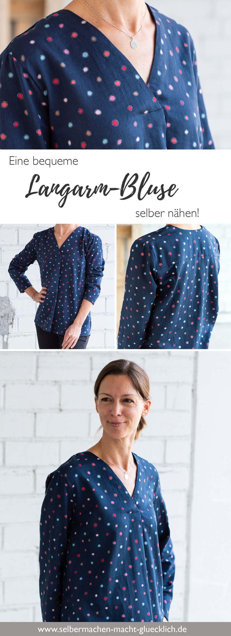 Näh-Blog: Eine bequeme Langarm-Bluse selber nähen!