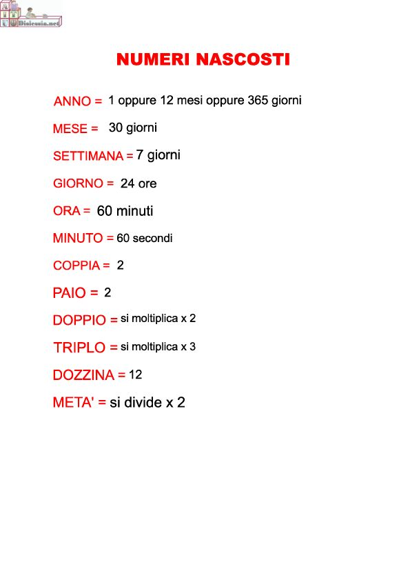 3 – 4 – 5 elementare matematica   AiutoDislessia.net